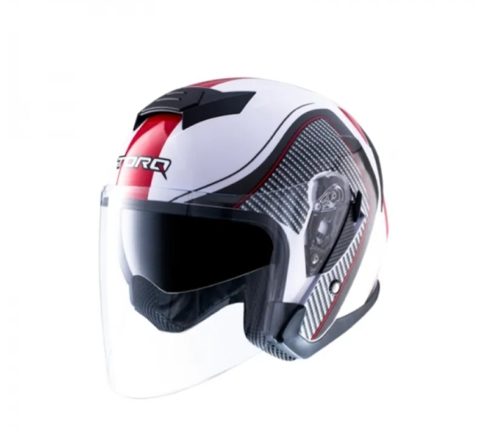 TORQ Xtreet Helmets – Glossy White Red Price in bd