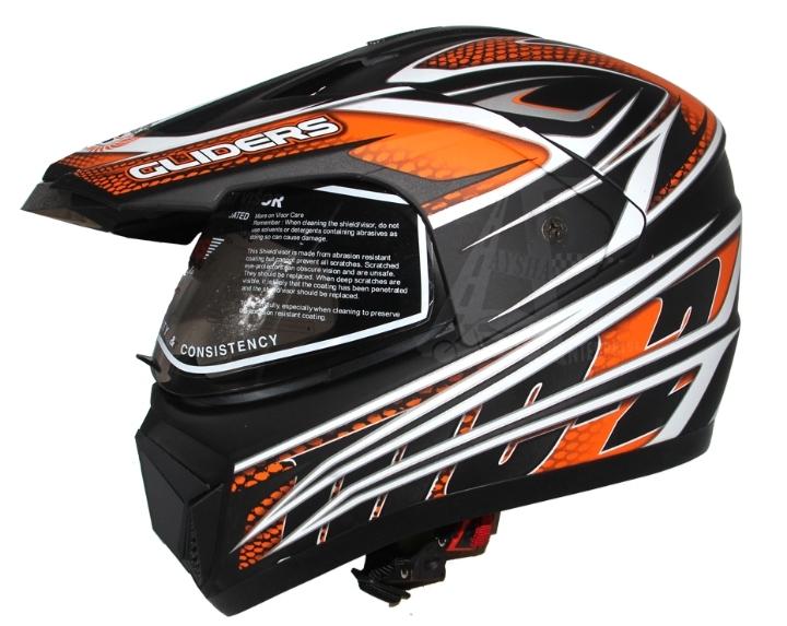 Gliders by Liberty MC-2 Motorbike Helmet-Matt Black Orange Price in bd