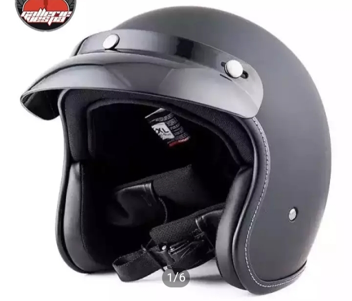 JYT Open Face ABS Helmet Matte/Glossy Black Price in bd