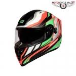 ORIGINE Strada Revolution FLUO Helmets – GREEN-RED-BLACK