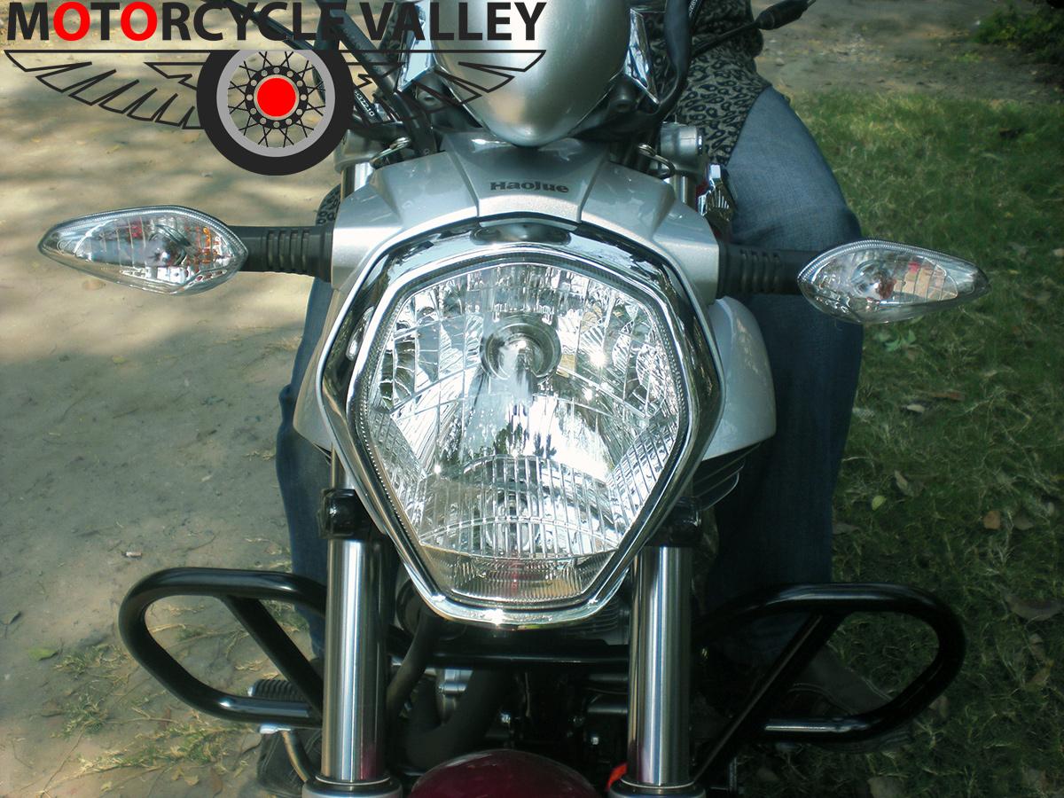 Haojue-TR-150-user-review-by-Wasim-Reza-headlamp
