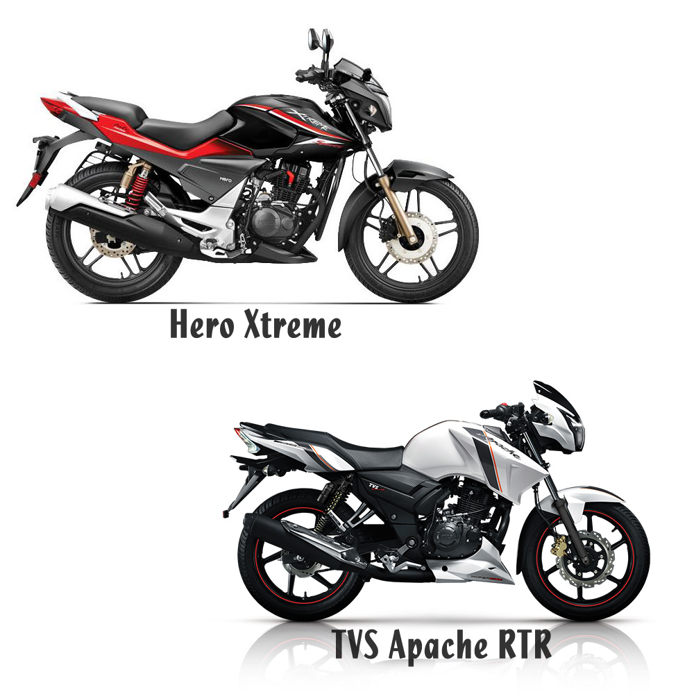 Hero Xtreme Sports Double Disc 150 VS Apache RTR 150 Double Disc