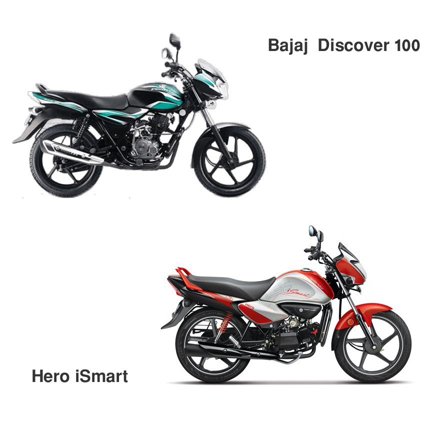 hero ismart 100 vs bajaj discover 100 motorbike review