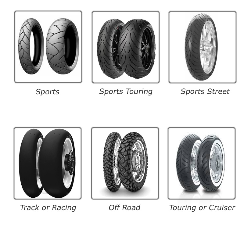 Types of motorcycle tyres