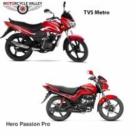 Hero Passion Pro 100 Vs TVS Metro 100