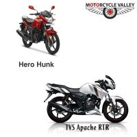 TVS Apache RTR Vs Hero Hunk