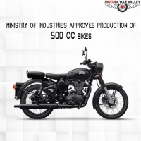 Ministry of Industries approves production of 500cc bikes