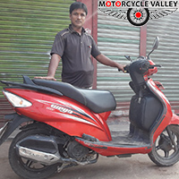 Color faded within short time - TVS Wego Scooter user Amirul Islam