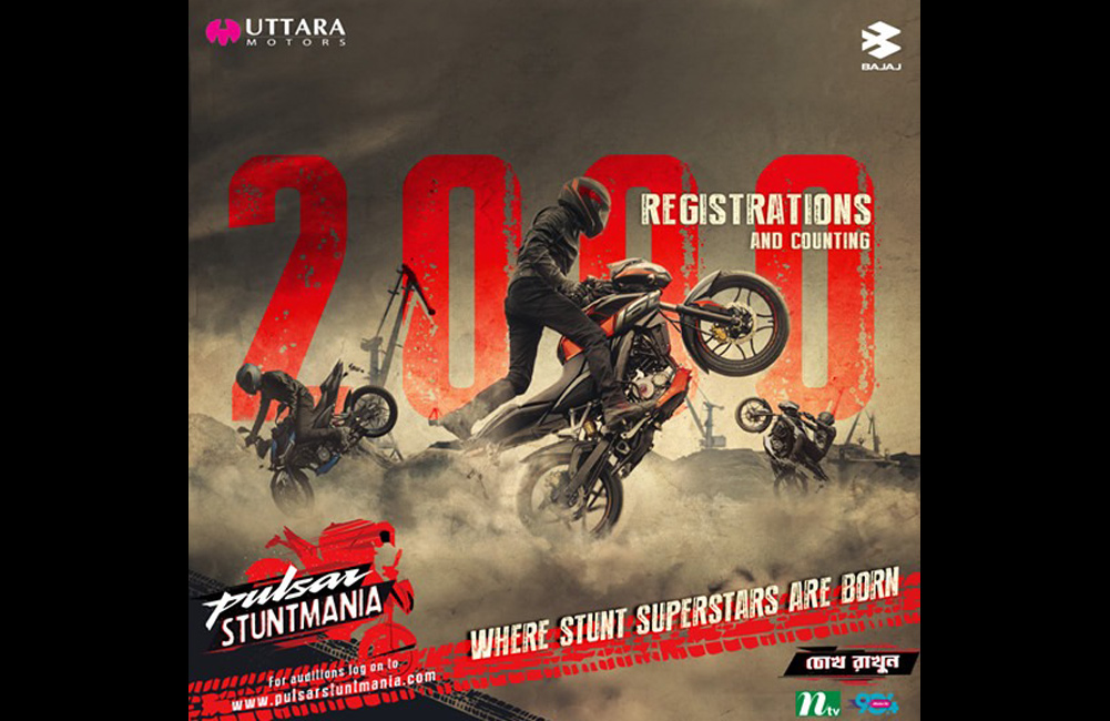 2000 registrations and counting for Pulsar Stuntmania, Bangladesh