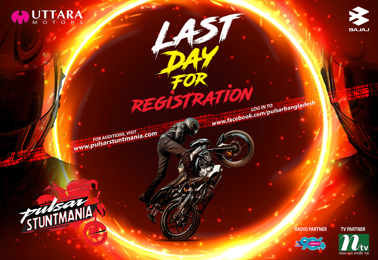 Last day registration remaining of Pulsar StuntMania